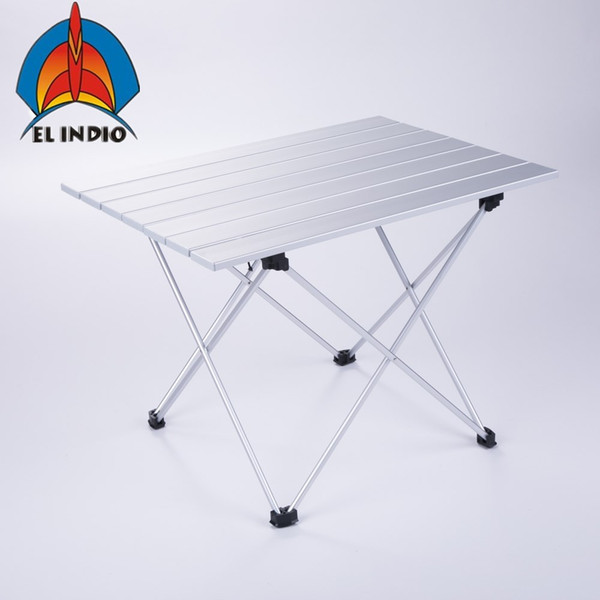 Magnificent El Indio Aluminum Folding Collapsible Camping Table Roll Up With Carrying Bag For Indoor And Outdoor Picnic Bbq Beach Hiking Travel Fis Wooden Inzonedesignstudio Interior Chair Design Inzonedesignstudiocom