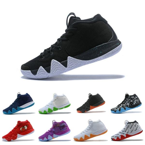 Top 4 Trainer Basketball Shoes Classique Noir / Blanc Blade design Respirant Athlétisme Discount Baskets Taille 40-46