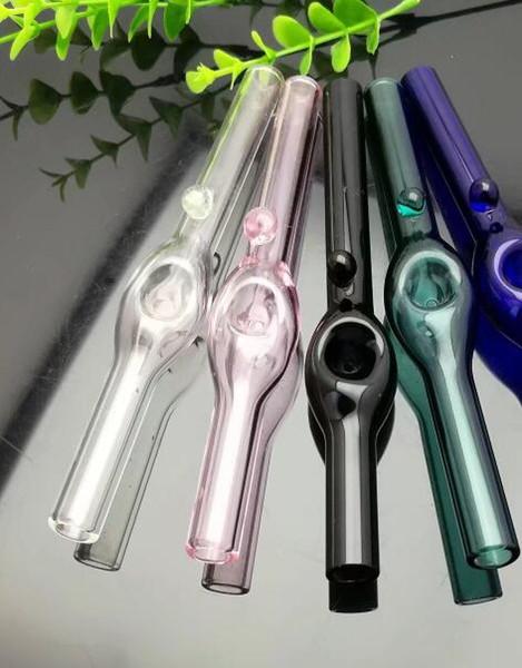 Pipe en verre concave de couleur bull Bangs en verre Brûleur à mazout Conduites d'eau en verre Supports à l'huile Rigs fumer