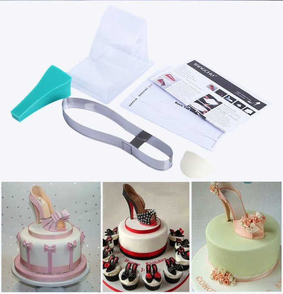 High Quality DIY 3D Silicone High Heel Shoes Mold Set Cake Decorating Tool for Fondant Cake Chocolate and Craft Clay B