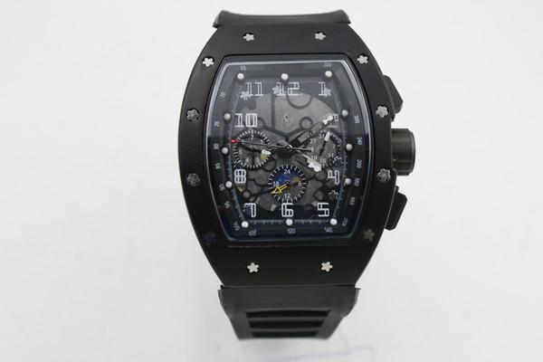 hotsell Man good 011 watch rubber black case 43mm Automatic machinery watch