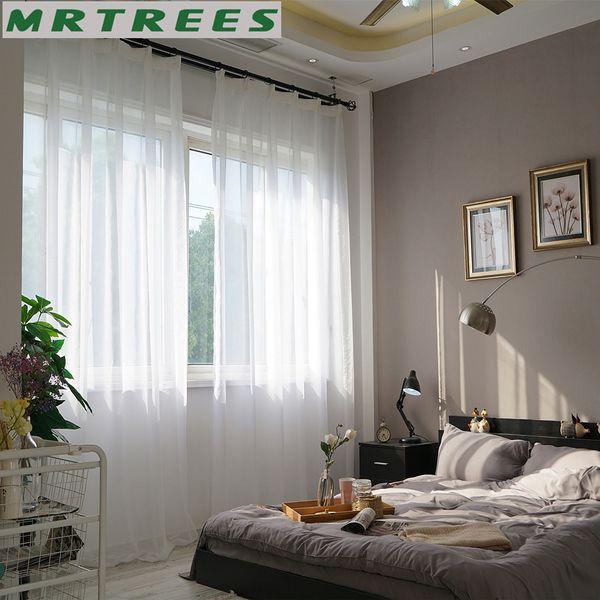 Großhandel Reinweiß Fenster Tüll Vorhänge Für Wohnzimmer Schlafzimmer  Gardinen Für Die Küche Fertige Tulle Fenster Von Hibooth, $36.31 Auf ...