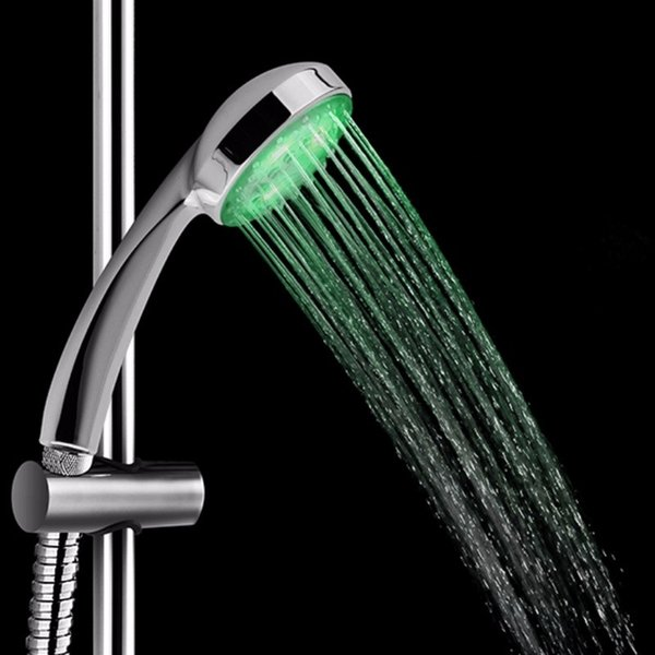 top popular Colorful Shower Head Home Bathroom 7 Colors Changing LED Shower Water Glow Light,7 Color Change LED Glow Shower Head 2019