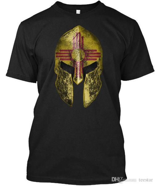 Yeni Meksika Spartan Gömlek Boyutu S 2XL Tees Gömlek Erkekler Boy için Online Tasarımcı Özel Kısa Kollu Erkek Arkadaşının 3XL erkek Tişörtleri