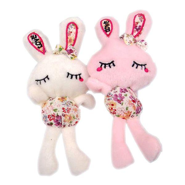 Plush Toy Long-legged Rabbit Love Rabbit Cartoon Bouquet Material Doll Pendant Wedding Promotion Gift Doll Variety