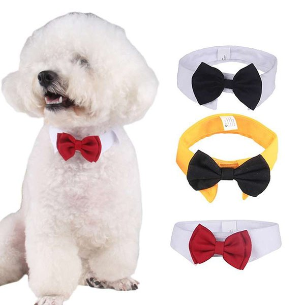 Supplies Accessories 1pc Cute Cotton White Tie and Red Bow Dog Puppy Bow Tie Necktie For Pet Dog