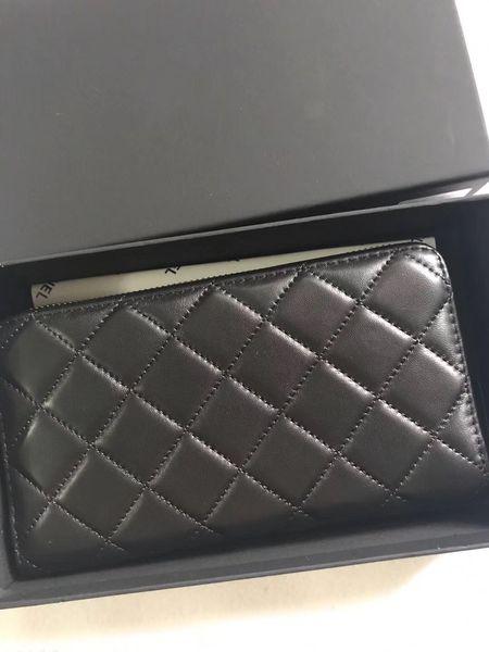 Известный модный бренд классический плед женский длинный кошелек высокого качества овчины золото и серебро аппаратная сумка класса люкс Эксклюзивная подарочная коробка кошелек