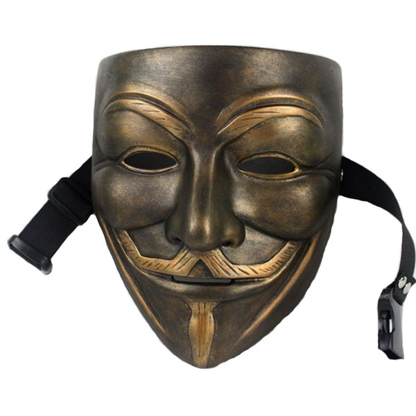 Hanzi_masks V For Vendetta Mask Anonymous Movie Guy Fawkes Halloween Masquerade Party Face March Protest Costume Accessory