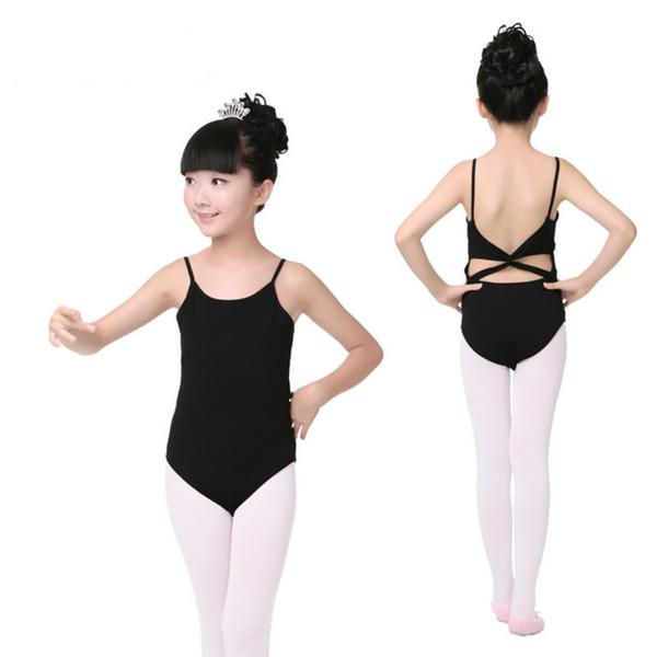 Ballet Leotards for Girls Sleeveless Gymnastics Body Ballet Children dance clothes cotton Ballerina bodysuit Jumpsuit kids black