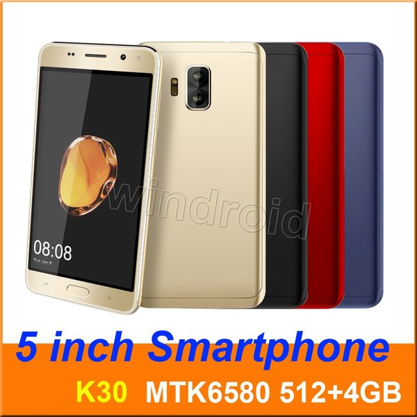 "Cheapest 5"" Mini s9 K30 Quad Core MTK6580 Android 7.0 Smart phone 4GB Dual SIM camera 5MP 540*960 3G Unlocked Mobile Gesture face unlock"