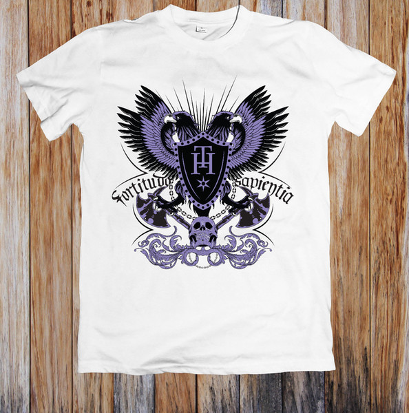 FORTITUDO SAPIENTIA UNISEX T-SHIRT 100% cotton casual Funny Shirts Official T-Shirt New Hipster O-Neck Casual New Brand-Clothing Tee