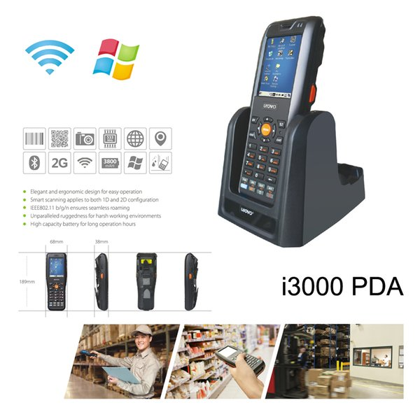 Urovo i3000 Industrial Handhold Mobile Data Terminal Super Strong Signal PDA With Windows CE 5.0 WIFI Bluetooth 533 MHZ CPU
