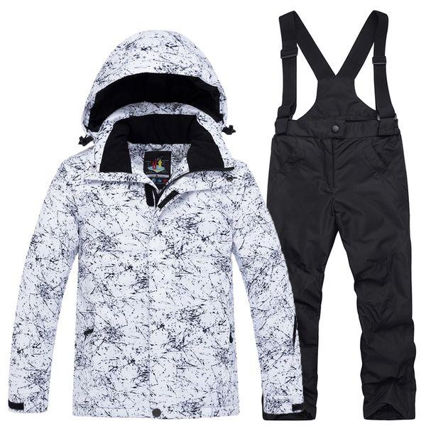 ARCTIC QUEEN -30 Children Ski suit sets outdoor Gilr/Boy skiing snowboarding clothing waterproof thermal Winter jacket + pant