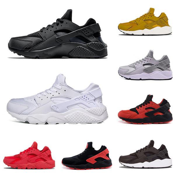 Compre Nike Air Huarache Moda Diseñador Caliente Air Huarache Para Hombre Zapatillas De Deporte Triple Blanco Negro Blanco Todo Rojo Oro Negro Rojo