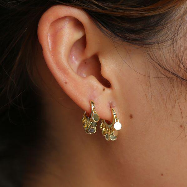 Bohemian gold rose Color Tiny Small Hoop Earings Women Wedding dapper drip glossy midi circle Earrings 2018 girl kid accessory