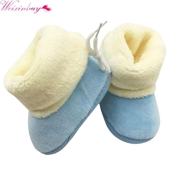 New StylishNew Winter Newborn Baby Flock Warm Pre-walker Shoes Infant Boy Girl Toddler Soft Soled First Walker