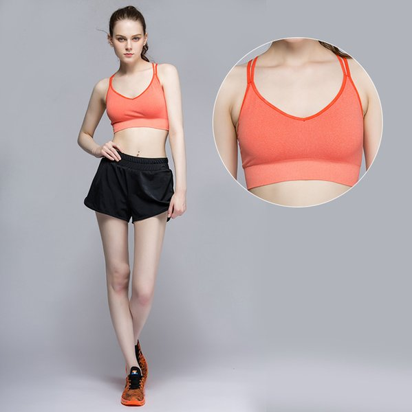 1 Pc/Lot Bra Running Sports Shirts Yoga Gym Vest Push Up Fitness Tops Sexy Underwear Lady Crop Tops Shockproof Strap Bra