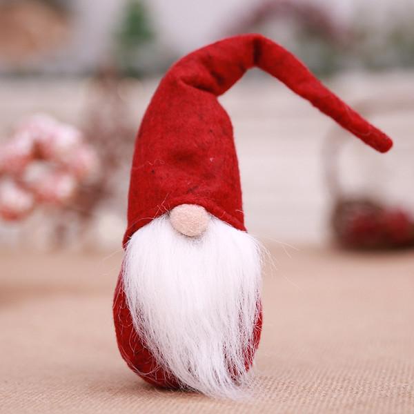 Noël 3 pack 8cm santa visage suspendu décorations pour arbres