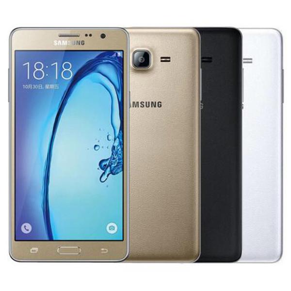 Remodelado Original Samsung Galaxy On7 G6000 Dual SIM 5.5 polegada Quad Core 1.5 GB de RAM 8 GB / 16 GB ROM 13MP 4G LTE Móvel Celular Telefone Livre DHL 1 pcs