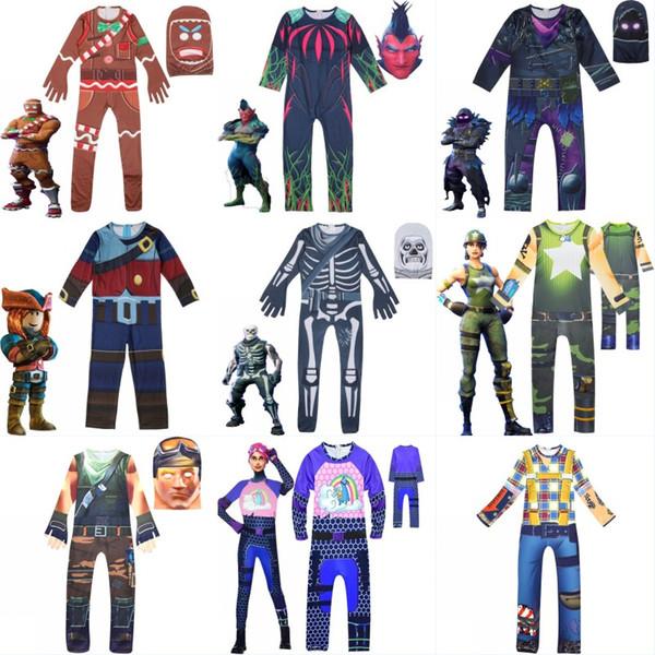 Childrens Gingerbread Man Cosplay Costume Boys Fancy Tute Maschera Skull Knight Costume Party Halloween Costume di Natale