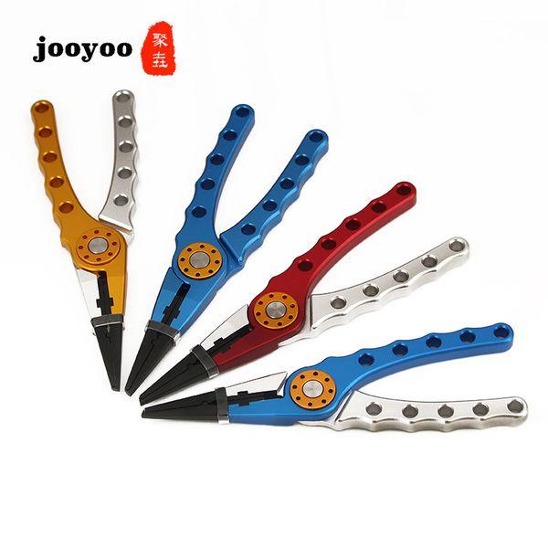 Jooyoo Multifunktions-Aluminium-Angelzangen Braid Cutter Haken Remover Tackle Tool mit Pouch Rope Karpfenangeln Tools