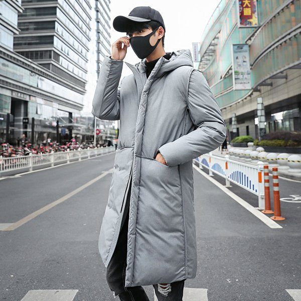 Winter High Quality Cotton Length Thick Warm Hooded Parka Jacket Coat Men Casual Solid Slim Parka Jacket Outerwear Plus Size 5XL