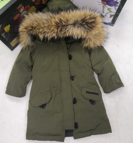 Boys Down Coat&outwear Children Winter Jacket&coat Boy Military Green WindProof Ski Suit Warm Hooded Kids Waterproof Clothes