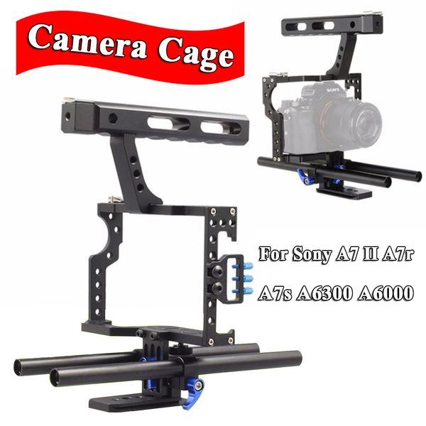 INSEESI IN-68 Aluminiumlegierung Tragbare Kamera Video Käfig Kit DSLR Stabilisator Mit 15mm Rod Rig für Sony A7 II A7r A7s A6300 A6000