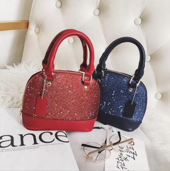Starry Series Coaeh Luxury Designer Bag per le donne Fashion PU Shell Handbags Borsa a tracolla nera Bling Bling blu