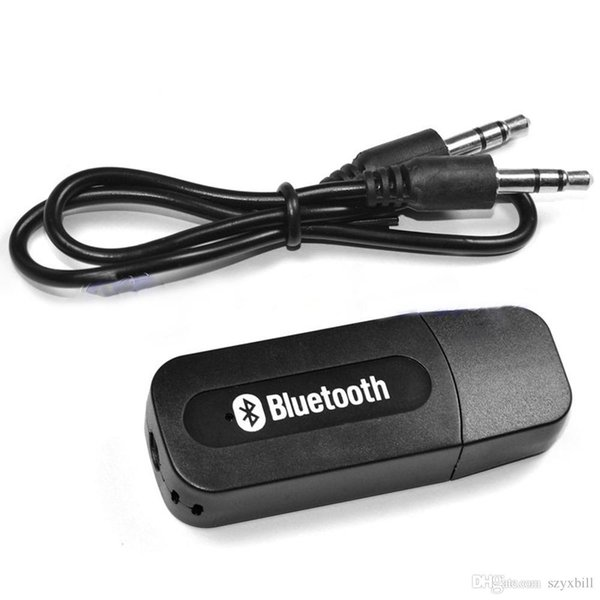 USB 3.5mm Wireless Bluetooth Music Audio Receiver Adapter Stereo 3.5mm Jack for Car AUX Android/IOS Mobile Phone