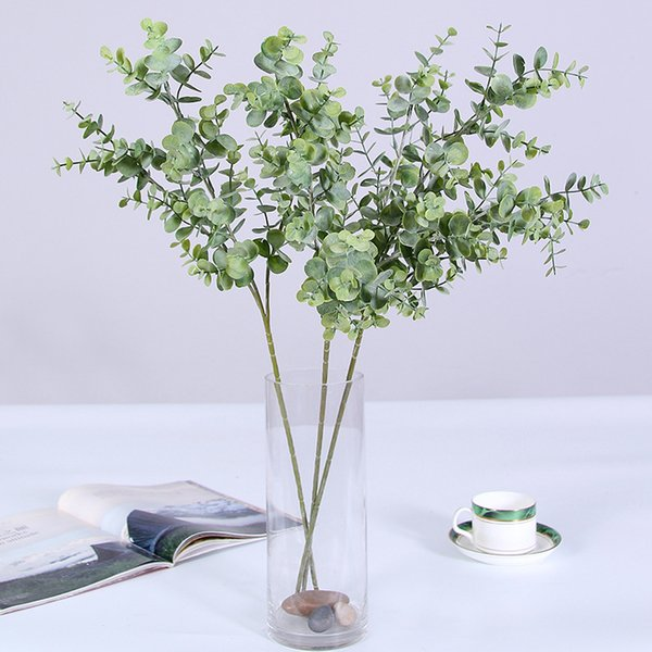 Simulated Plant Eucalyptus Leaf Lucky Tree Branches Room Decoration Flower Wedding Flower Art Home Green Flower Wholesale