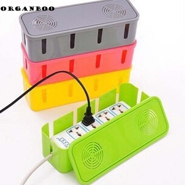 Plastic storage box cooling holes power cord socket storage box safety socket outlet board container cables electric Wire case