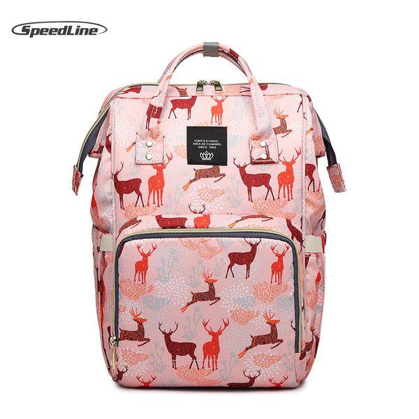 Speedline Cute Baby Diaper Bag Baby Care Mummy Maternity Diaper Bag Nursing Backpack Travel Backpack Designer land