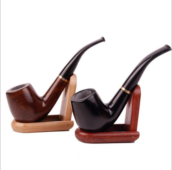 Wholesale wholesale black sandalwood solid wood classic wood pipe 9MM core filter wood pipe