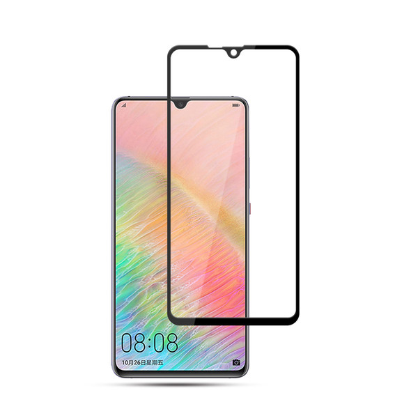 For Huawei Mate 20 X 2.5D front film 9H tempered glass screen protector with black silk printing and retail package