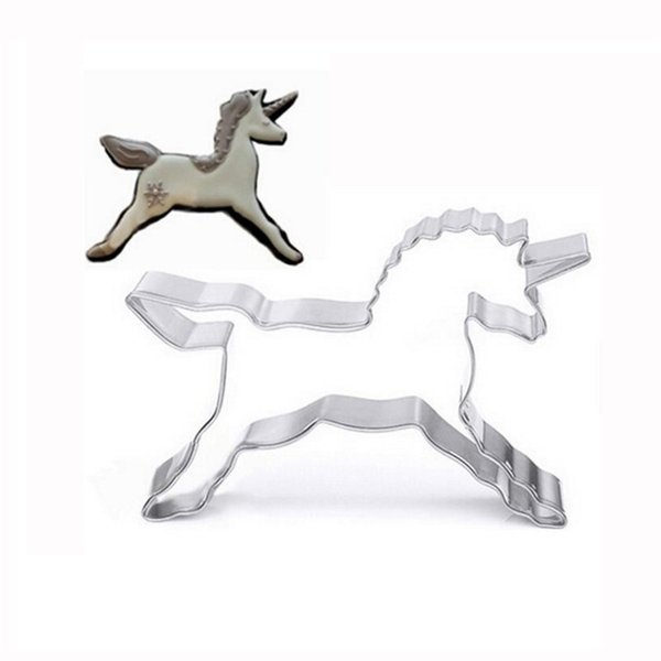 Cute Unicorn Animals Vegetable Biscuit Cookie Cutter Baking G Mold Stainless Steel Tool Cake Chocolate DIY Mould Hot Sale1 4fh Y