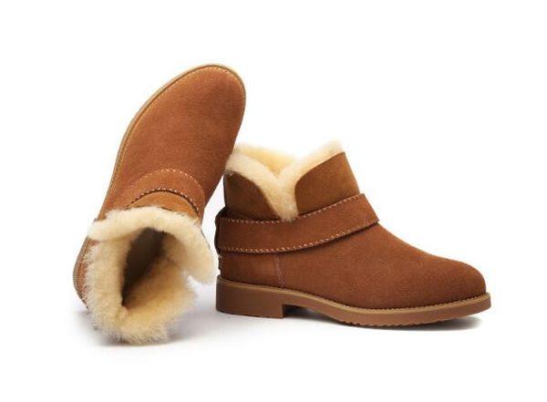 2019 Klasik tasarım Yeni Üst Gerçek Avustralya keçi cilt koyun kar botları Martin çizmeler kısa kadın çizmeler sıcak tutmak ayakkabı Ücretsiz kargo