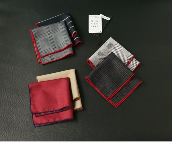 Simple Men's cravat scarf Handkerchiefs Cotton Pocket Square Hankies Men Business Square Pockets Hanky Handkerchief Fashion Ties Accessories