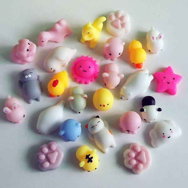top popular Squishy Slow Rising Jumbo Toys Animals Cute Kawaii Squeeze Cartoon Toy Mini Squishies Cat rebound Animal Gifts Charms Free DHL B001 2020