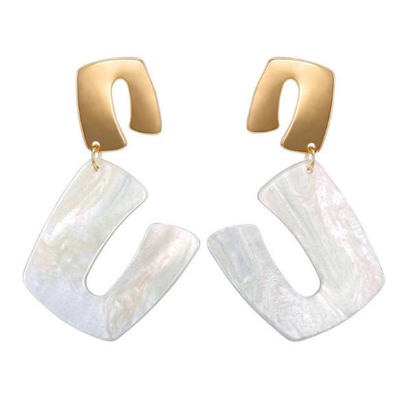 New Design Charm Drop Earrings Punk Style Acrylic Geometric Earrings Maxi Statement Big Earings Fashion Jewelry