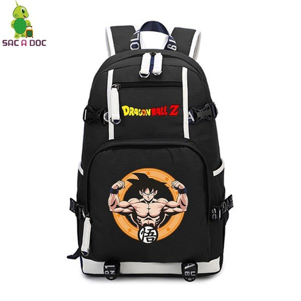 Anime Z Goku Backpack for Teenage Girls Boys Laptop Backpack College Student School Bags Women Men Travel Rucksack