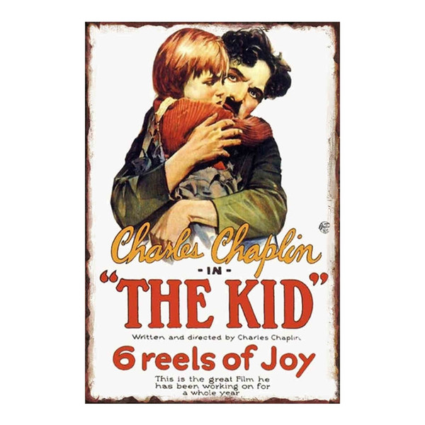 Charlie Chaplin ''The Kid'' Vintage tin sign home Bar Pub Hotel Restaurant Coffee Shop home Decorative Retro Metal Poster