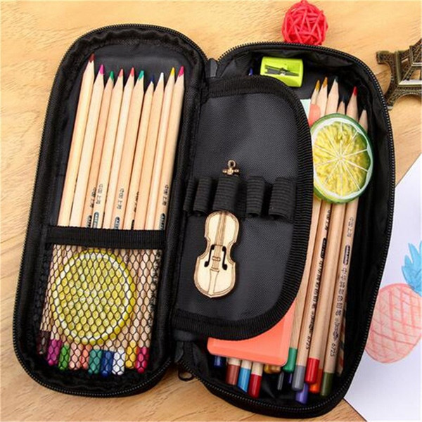 Osmond Cute Unicorns Pencil Case School Pen Bag Cartoon Cosmetic Bag Women Makeup Cases Round Pillow Organizer Storages For Girl