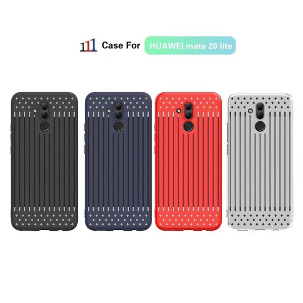 Pour HUAWEI Mate 20lite Mate 10lite P20lite P20pro Y9 2018 Baisse antichoc souple TPU + PC Etui complet pour Samsung Note9 A8star A8plus J6prime