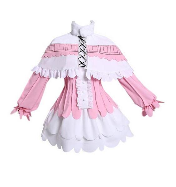 Anime Kanna Kamui Cosplay Costume Jupe Perruque Cape Définit Des Vêtements Miss Kobayashi's Dragon Maid Kanna Anime Party Cosplay Pour Femmes