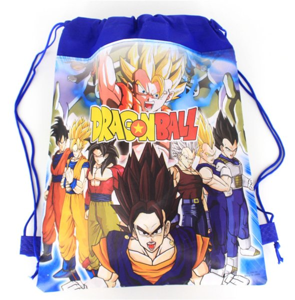 Dragon Ball Drawstring Backpack for Kids Party 24pcs Cartoon Children School Bag Birthday Party Favors Children's Day Gifts