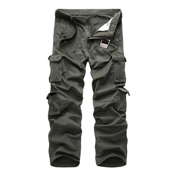 2018 Men Cargo Pants Men's Urban Tactical Clothing Combat Trousers Multi Pockets Unique Casual Pants Ripstop Fabric size 28-40 Y1892603
