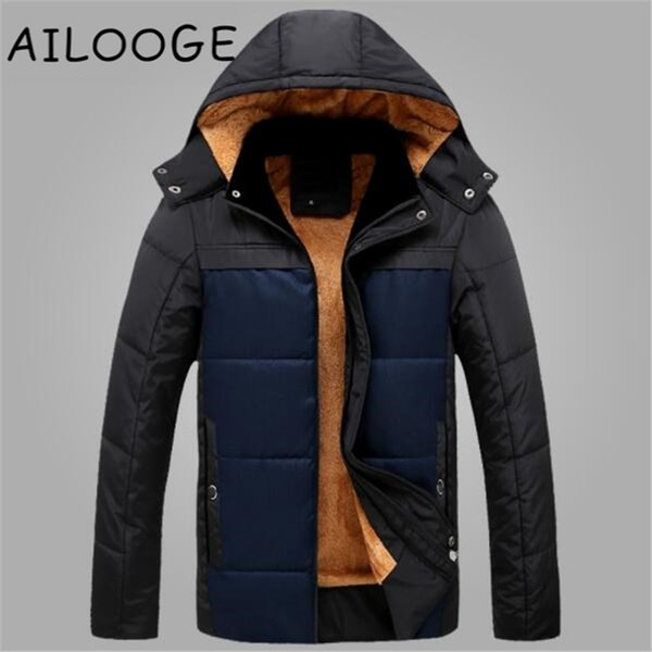 New Arrival Winter Thick Padded Parka Men Jacket Coat Russian Wadded Casual Fashion Warm Snow Cold Overcoat Male Jackets Brand