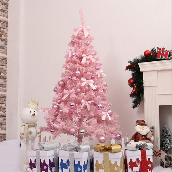 Pink Christmas Ornaments.2018 Pink Christmas Tree Artificial Christmas Tree Xmas Party Holiday Ornament Home Decor Office Decorations German Christmas Decorations German