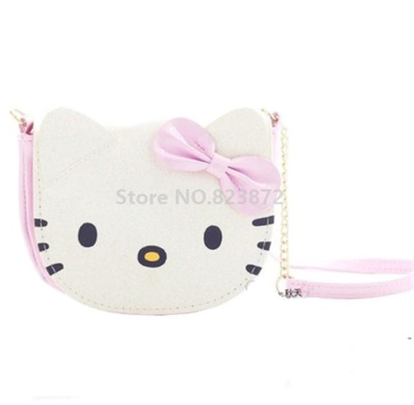 Kawaii nette hallo kitty cat mini kleine schulter umhängetasche kinder pu umhängetaschen für baby mädchen kinder geldbörse